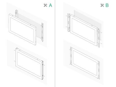 7 inch monitor metal (4:3)