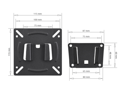 Wall Mount Bracket, flat